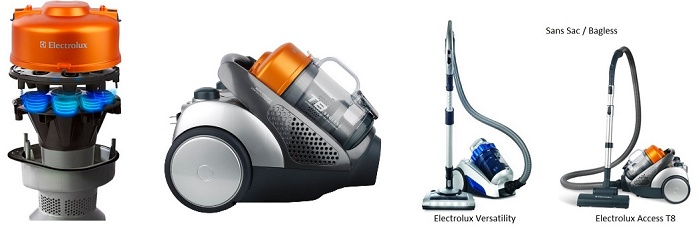 electrolux bagless canister vacuum cleaners