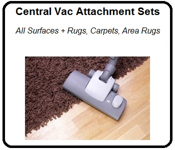 central vacuum cleaner accessories for carpets and rugs