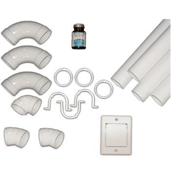 Central Vacuum Outdoor Exhaust Air Vent Installation Kit