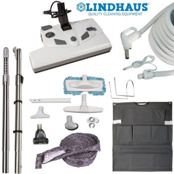 Central Vacuum Accessories and Attachments Electric Kit with Lindhaus PB14 Powerbrush