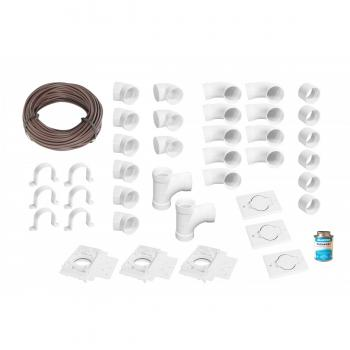 Standard Central Vacuum System Installation Kit Without Pipes