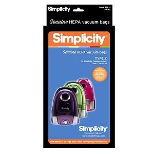 Simplicity Jack Jill & Snap Canisters Type Z Vacuum Cleaner Bags HEPA SZH-6