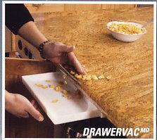 Central Vacuum Kitchen Counter Accessory DrawerVac by Plastiflex