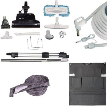 Central Vacuum Deluxe Electric Attachment Kit for Carpets and Barefloors
