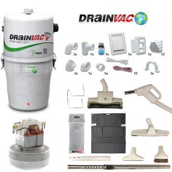 Drainvac PRO 106 Central Vac Package for Small Home & Condo