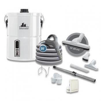 Deco Vac DV20 Central Vacuum System Kit with Complete Attachment Kit