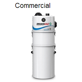 Drainvac Cyclonik Wet & Dry Commercial Central Vacuum System