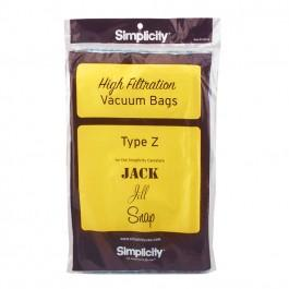 Simplicity Jack Jill & Snap Canisters Type Z Vacuum Cleaner Bags SZP-6