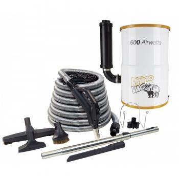 600 Air Watts Rhino Vac Central Vacuum Cleaner With 30