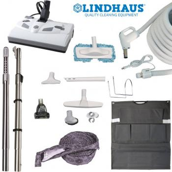 Central Vacuum Accessories and Attachments Electric Kit with Lindhaus PB12E Powernozzle